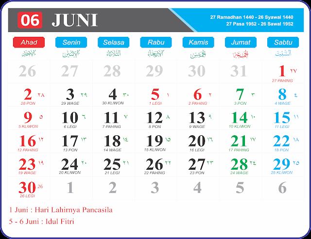 Gambar Kalender 2019 Full HD Gratis format JPG PNG dan