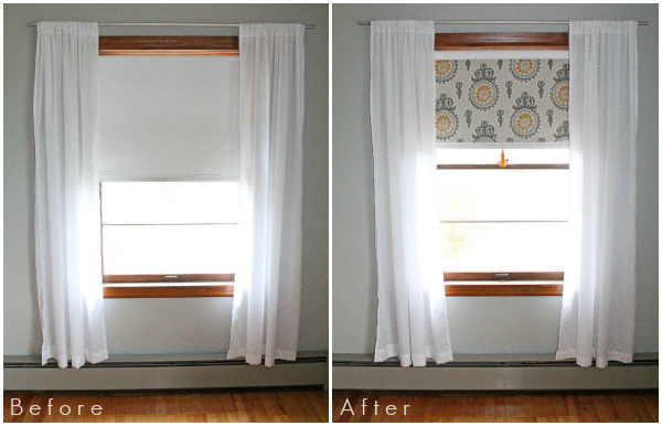 Pull Down Shades Fabric Covered Roller Shades with Handmade Tassel - Love Grows Wild