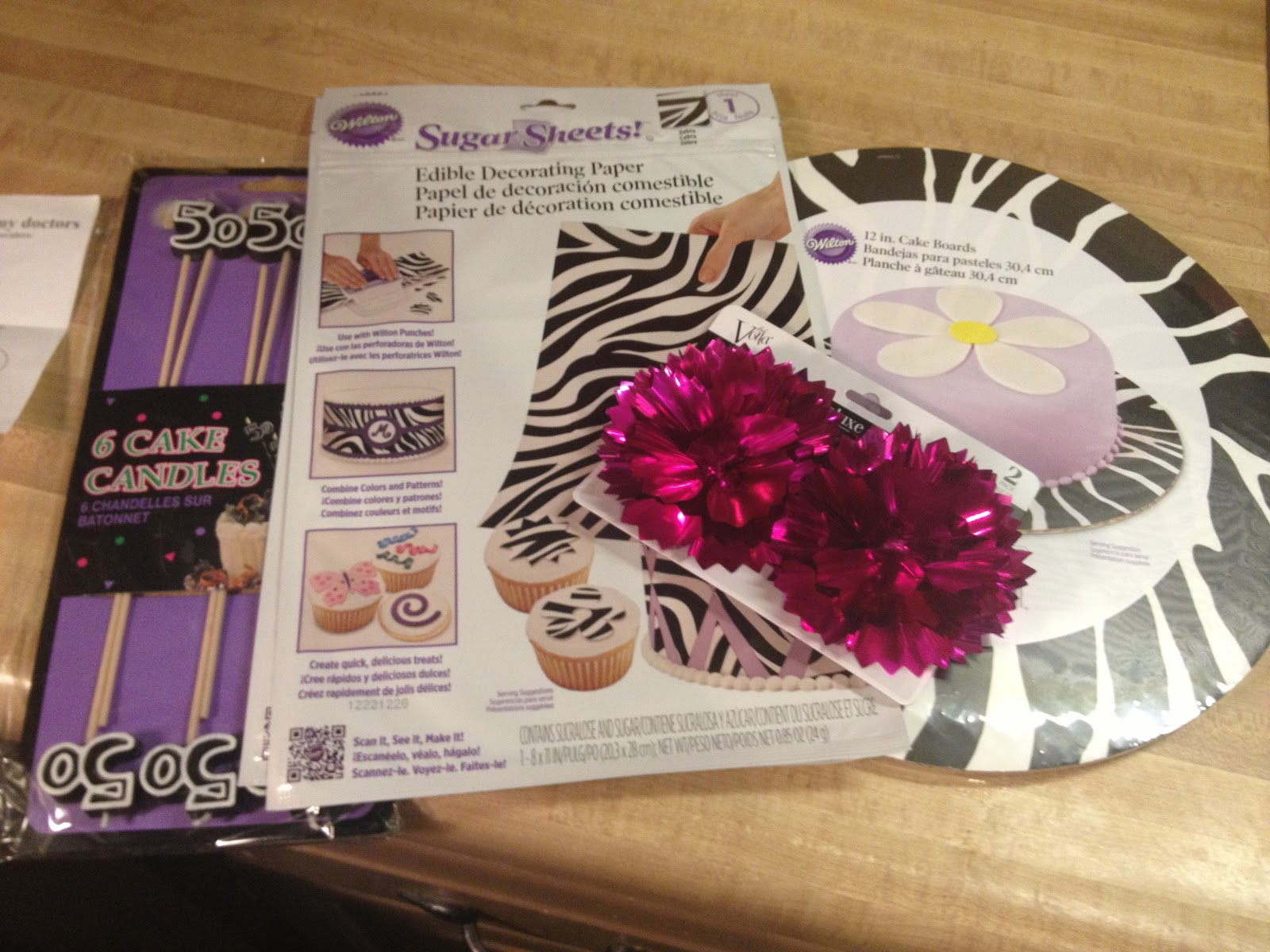 I Got The Sugar Sheets At Michaels Cake Boards And Candles Party City Cute Foil Bows Toppers Dollar Tree