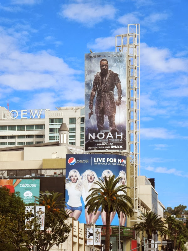 Noah movie billboard Hollywood Highland