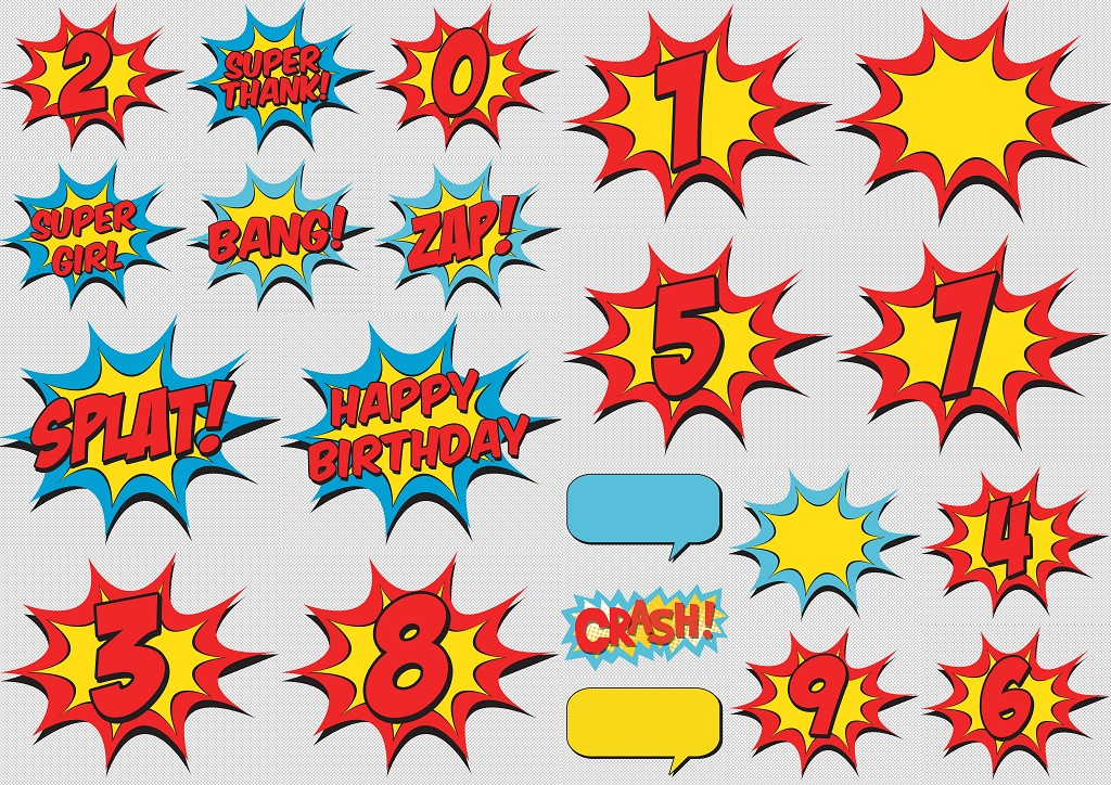 Signs and Numbers of the Wonder Woman Baby Clipart. - Oh My Fiesta ...