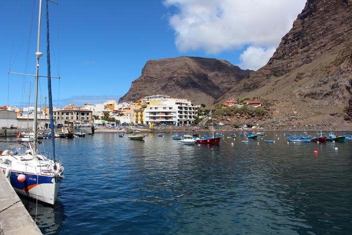 Hafen von Vueltas im Valle Gran Rey, La Gomera