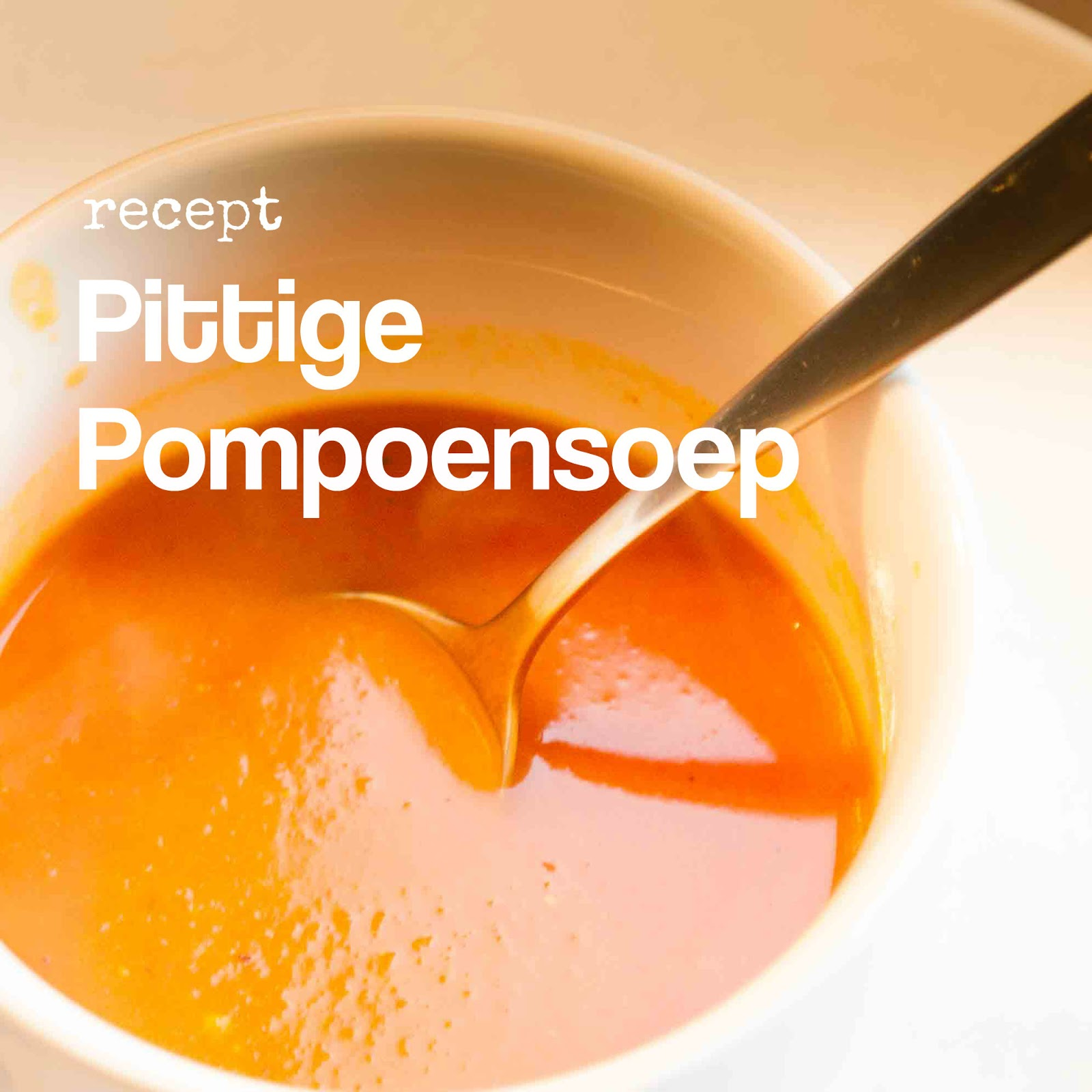 pittige pompoensoep recept