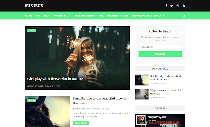 Download Free Premium MiniBox Responsive Blogger Template