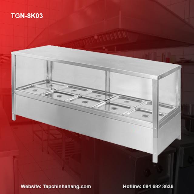 Bàn dưỡng nóng thức ăn TGN-8K03