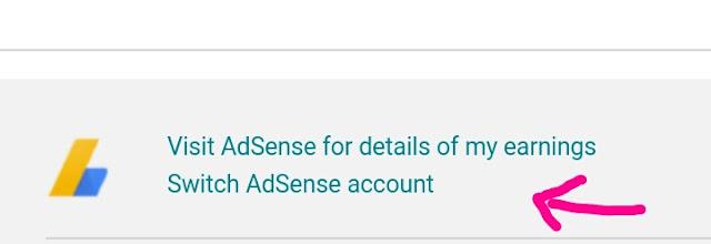Switch adsense account