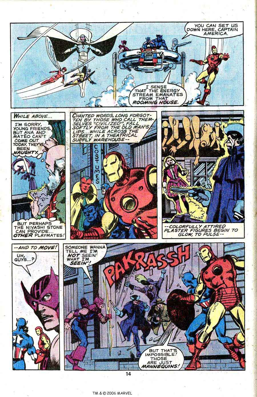 Avengers #182 marvel 1970s bronze age comic book page art by John Byrne
