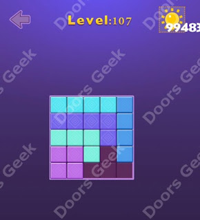 Cheats, Solutions, Walkthrough for Move Blocks Easy Level 107