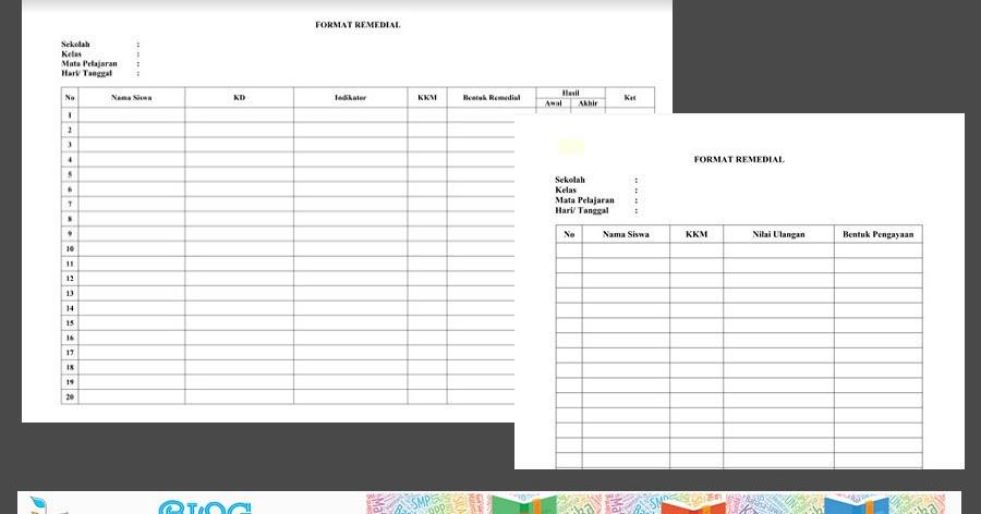 Download Format Remedial Dan Pengayaan Kurikulum 2013 Sd