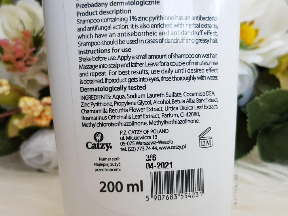Przeciwłupieżowy szampon Catzy zielony - opinie, skład, działanie, blog