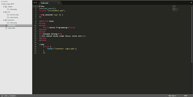 Membuat Login Multi User dengan PHP