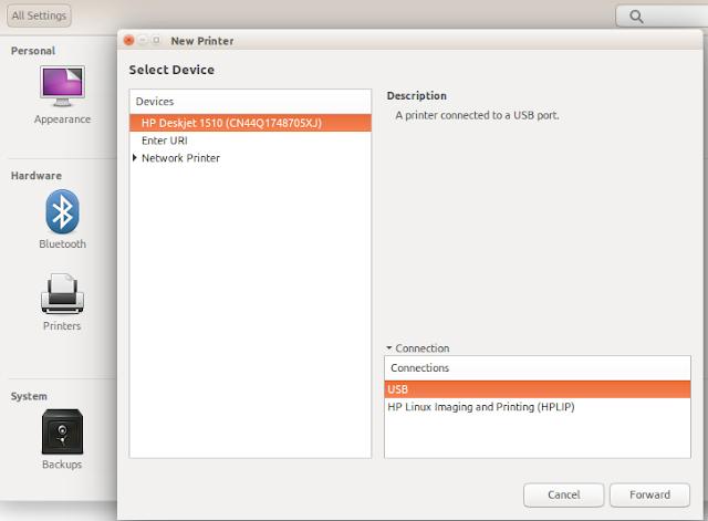 Ubuntu Mendeteksi Printer