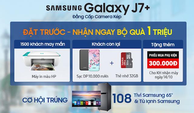 [FPTShop] Đặt Trước Samsung J7+ Rước Quà Siêu Ngon