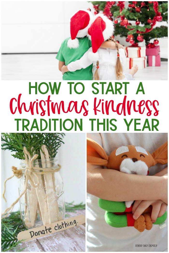 Add random acts of kindness to your Christmas traditions this year! Easy ideas for Christmas kindness traditions with kids including kindness advent calendars, alternatives to elf on the shelf and more. #christmas #christmastraditions #christmaskids #kindness #kindnessmatters