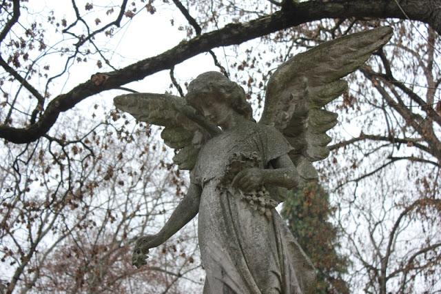 Engel auf dem Friedhof in Stuttgart