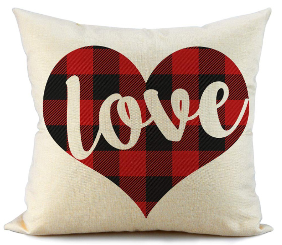 Buffalo Check Valentine's Pillow