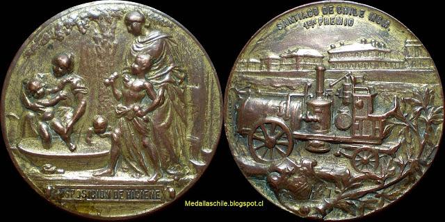 Medalla Exposicion de Higiene 1901 Medicina