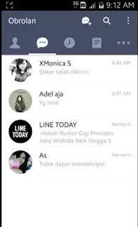 CARA MENGGANTI BACKGROUND CHAT LINE