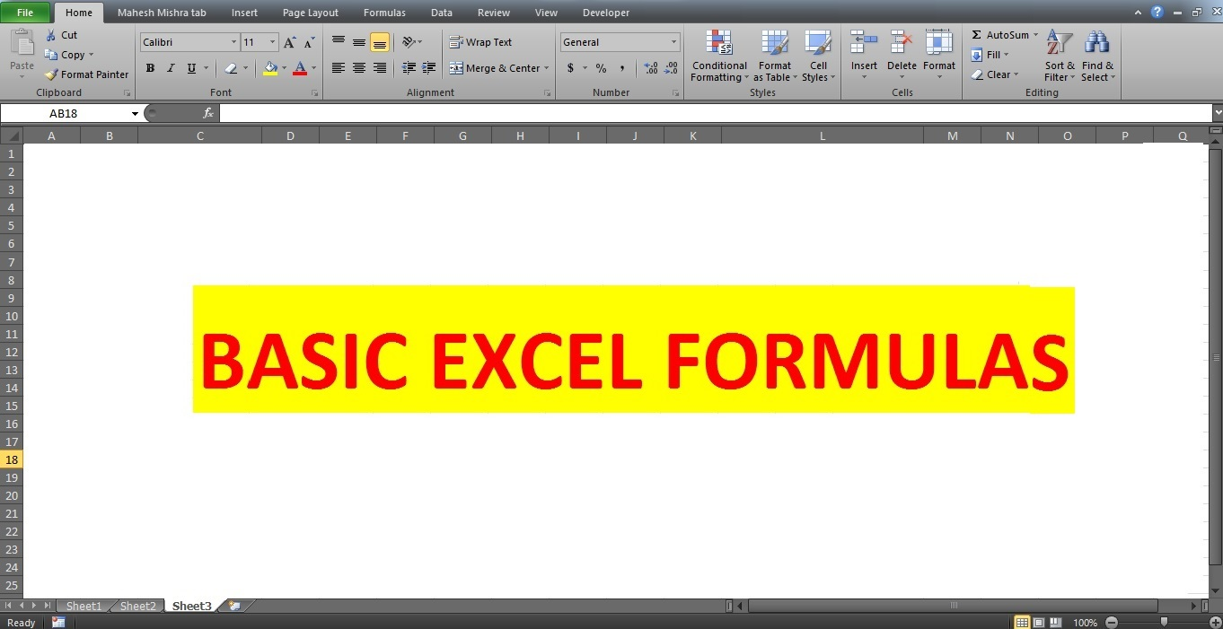 basic excel formulas mad about computer