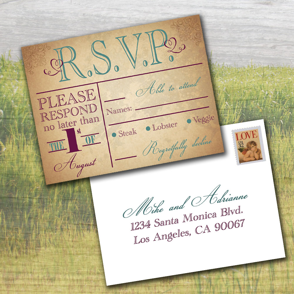 Things To Put On A Wedding Invitation: Cottontail Digital Press- Wedding Invitations: RSVP Due