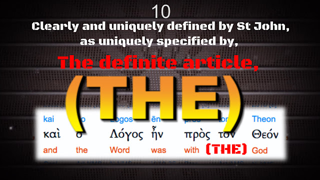 The Greek word: (τὸν) meaning: THE 'definite article'