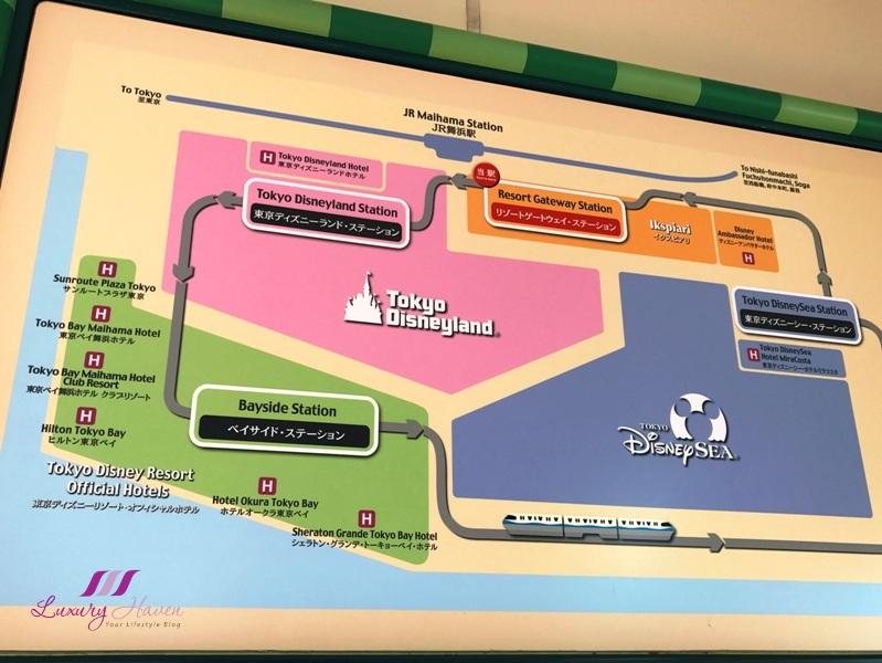 tokyo disneyland resort gateway station map
