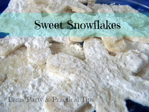 Sweet Snowflake Treats for a #Frozen or Snow Day Party