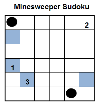 Mini Minesweeper Sudoku (Fun With Sudoku #36)