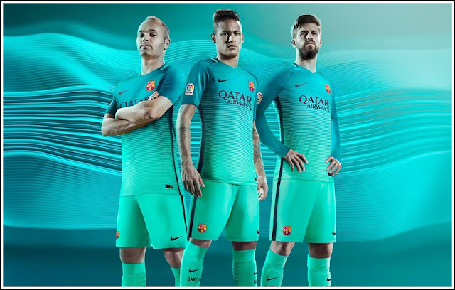 F.C. Barcelona 16-17 Third Kit by Nike Football Apparel Soccer