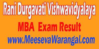 Rani Durgavati Vishwavidyalaya M.B.A I Sem 2016 Exam Result