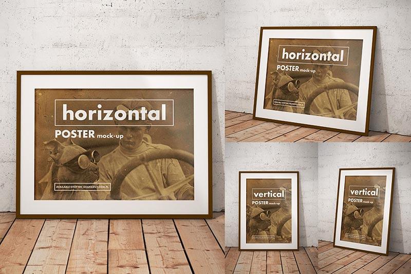 Vintage Frame Poster Mockups