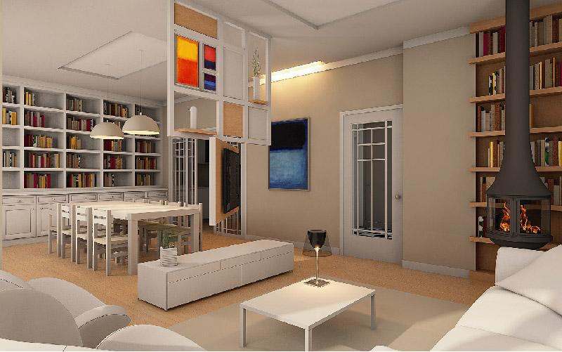 Progetto di interior design per una casa anni '50
