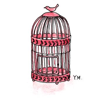bird cage by Yukié Matsushita