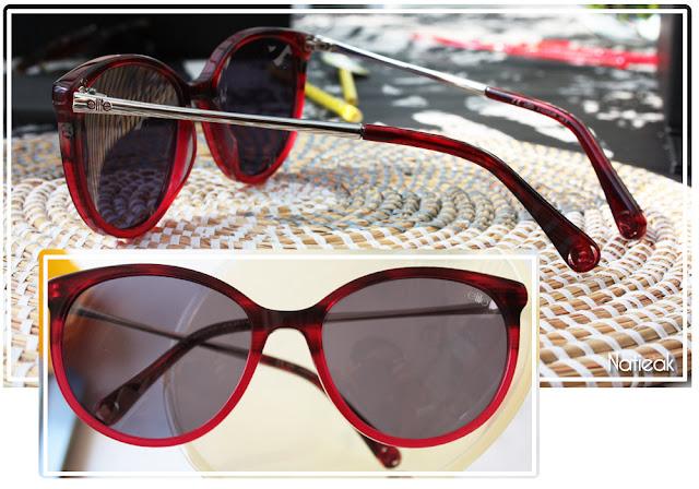 lunettes de soleil rouge dégradé d'Elite pour Optic 2000