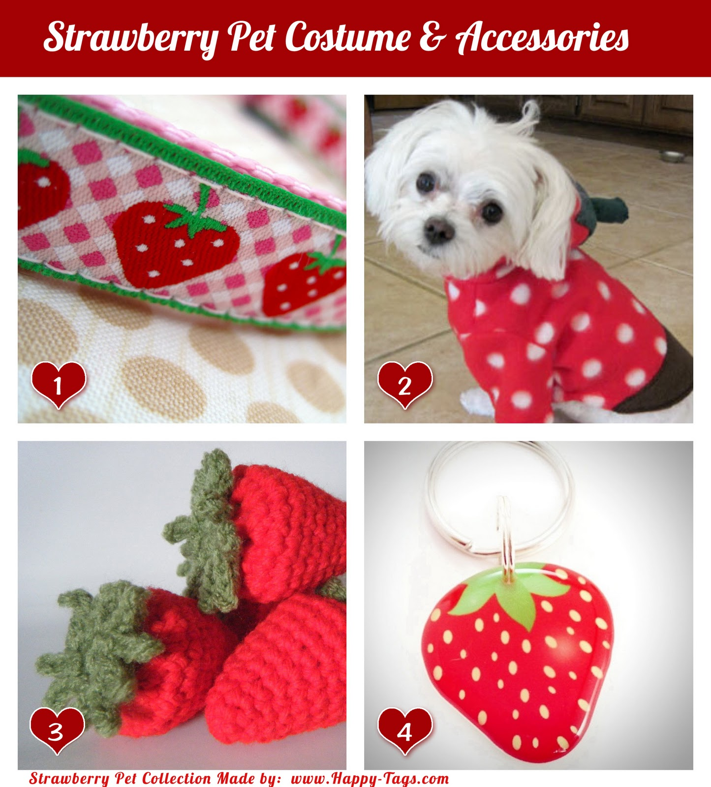 Strawberry Pet Costume & Accessories ~ Happy Tags Blog