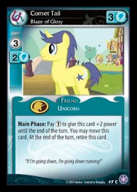 My Little Pony Comet Tail, Blaze of Glory The Crystal Games CCG Card