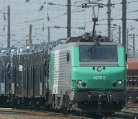photo d'un train de marchandises