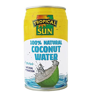 No fat 100% pure coconut water: Tropical Sun 330ml 12pack £9.00 end 23:59 today