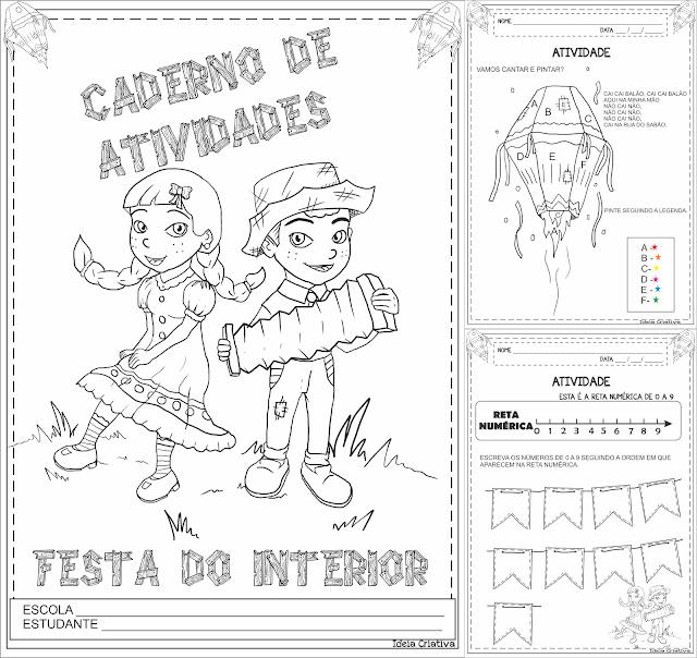 Caderno de Atividades Festa do Interior Faixa Etária 5 Anos