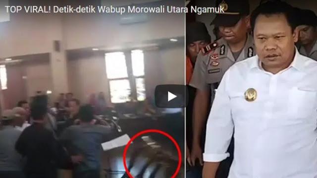 Tendang Kursi dan Meja, Wakil Bupati Morowali Utara Ngamuk saat Pelantikan Pejabat