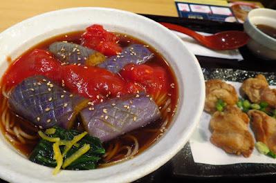 Yomoda Soba, tomato eggplant soba