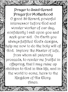 prayer for fertility to saint gerard