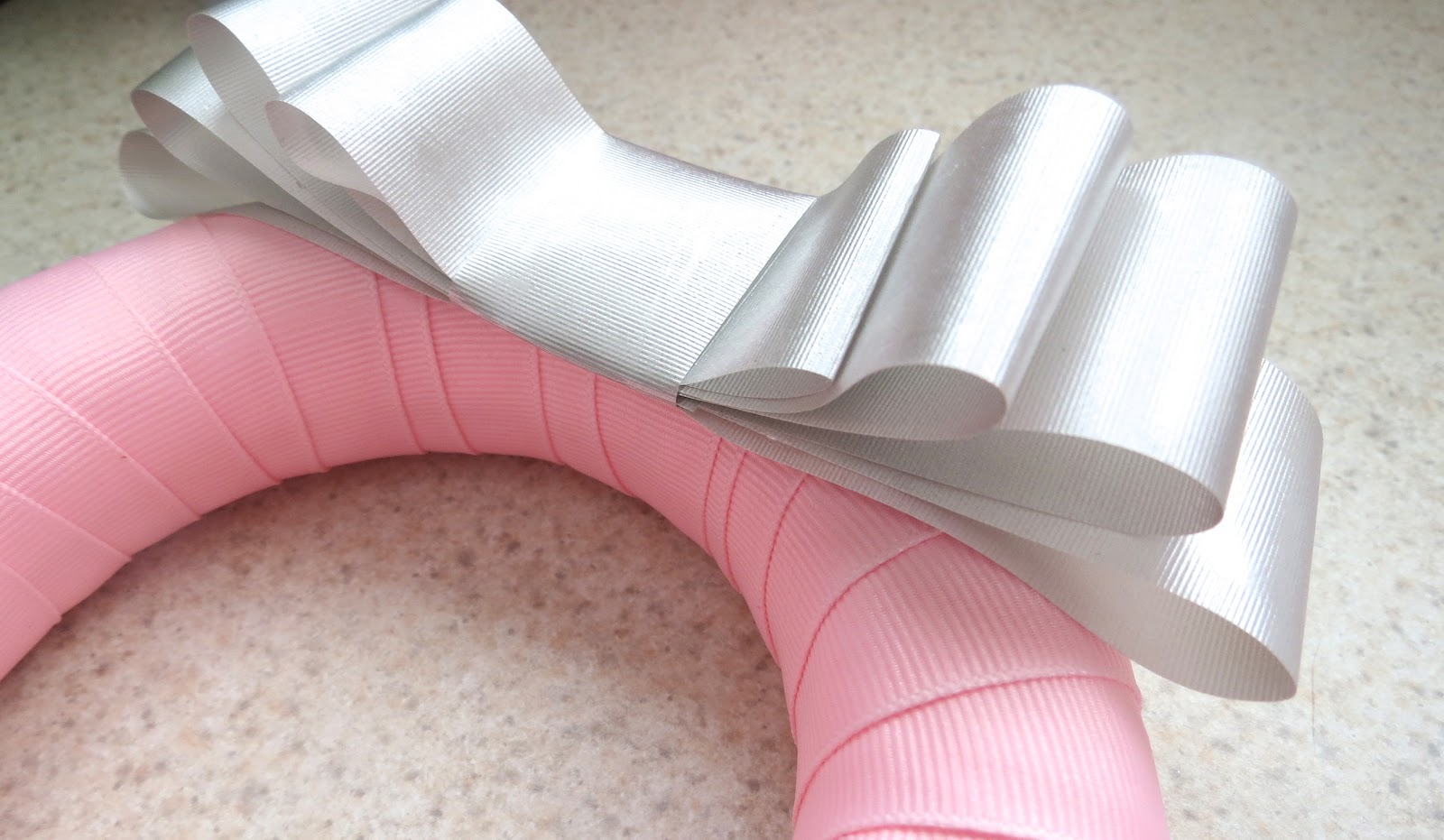 craft ideas with ribbon the simple craft diaries pink and grey baby shower easy 3986