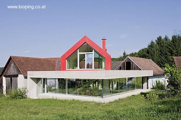 Casa estilo Contemporáneo con doble perfil en área rural de Austria