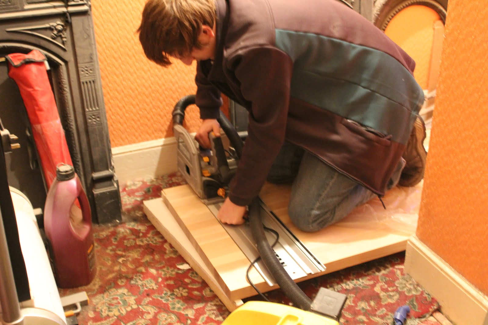 How to cut wooden worktops