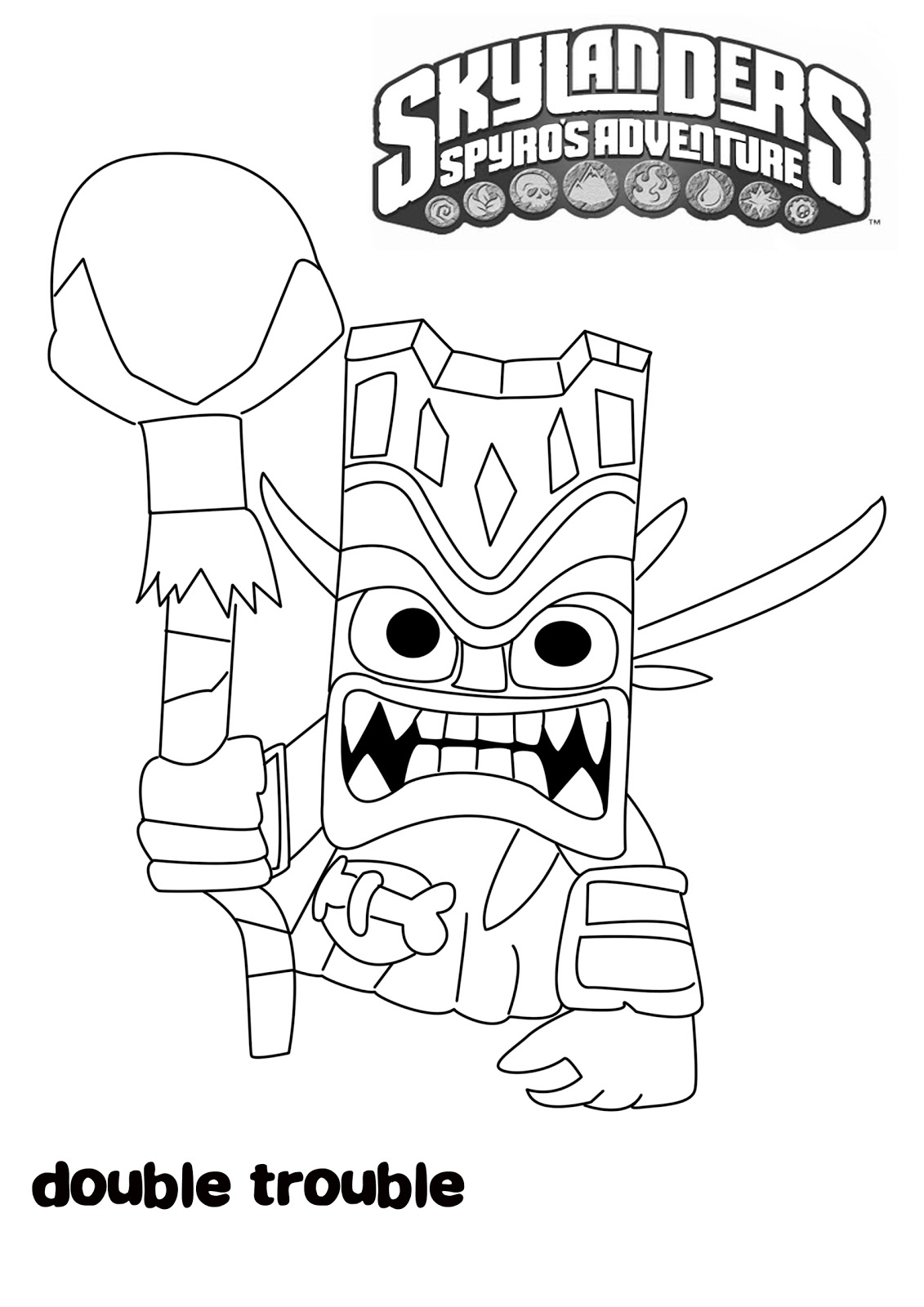 skylander wrecking ball coloring pages | Skylanders Wham Shell Coloring Pages Coloring Pages