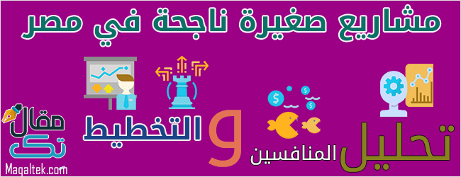 وضع الخطط وتحليل المنافسين لتأسيس مشاريع صغيرة ناجحة في مصر