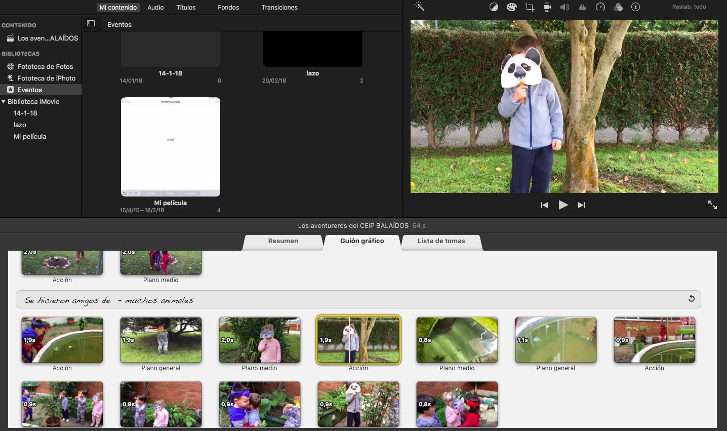 Trailers con iMovie.