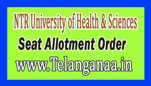 NTR University of Health & Sciences (NTRUHS)B.Sc Nursing, BPT & B.Sc MLT Seat Allotment Order 2018