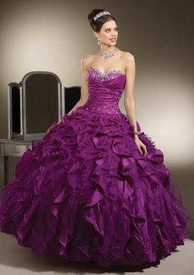 diseños de Vestidos de 15 Años Morados
